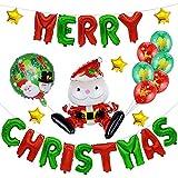 クリスマスパーティー飾り 風船セット 装飾セット 装飾 雰囲気 自宅/教室/店/レストラン