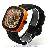ZooooM 腕 時計 TOP GEAR 歯車 ユニーク カラフル デザイン 文字盤 アナログ ウォッチ ファッション アクセサリー おもしろ カジュアル メンズ 男性 ( オレンジ ) ZM-WATCH2-1030-OR