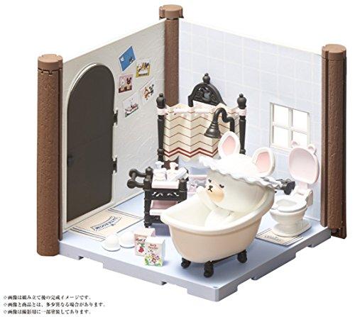 ハコルーム くまのがっこう バスルームキット 色分け済みプラモデル