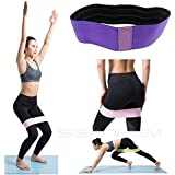 Non Slip Hip Resistance Workout Band, Adjust Your Legs and Glutes- Perfect for Squats, Legs, Thigh and Hip Fitness Elastic Hip Loop Circle/Best Exercise Bands with Carrying Bag