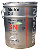 NISSAN エンジンオイル SNストロングセーブ・X 0W20 化学合成油 20L
