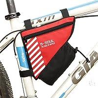 自転車フレームバッグ 自転車サドルバッグ防水MTBロードバイクアクセサリーシートポストバッグテールリアポーチバッグ自転車バッグ 防水電話ホルダー (色 : 赤)
