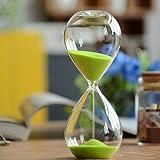 砂時計 時計 カラー豊富 インテリア 飾り物 プレゼント 贈り物 お風呂 防水 (5分計, グリーン)