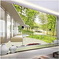 Xbwy カスタム写真の壁紙ウィンドウビュー竹林湖橋中国の壁紙天然壁画のリビングルーム-150X120Cm