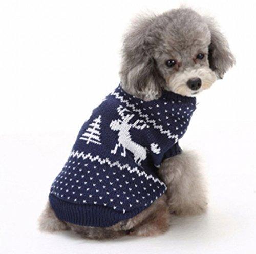 PureSino 犬服 犬ニットセーター スター柄のニットパ...