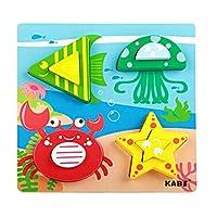【ノーブランド品】 カラフル 木製 パズル ブロック ジグソーパズル 赤ちゃん 子供 知育玩具 贈り物 全6タイプ  - #5