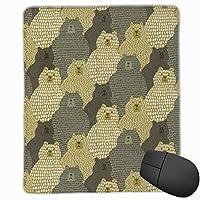 かわいいクマ マウスパッド ゲーミング オフィス最適 高級感 おしゃれ 防水 耐久性が良い 滑り止めゴム底 適用 マウスの精密度を上がる( 22*18*0.3cm )