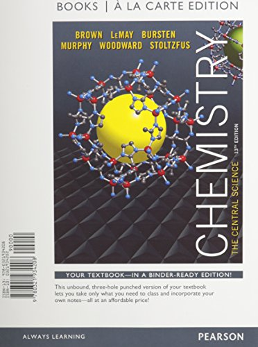 Download Chemistry: The Central Science, Books a la Carte Edition & Modified Mastering Chemistry with Pearson eText -- ValuePack Access Card  Package 0133910911
