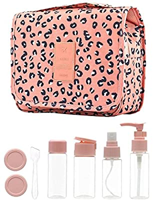 Travel Bottles Set &Toiletry Bag-14 PCS Travel Size Toiletries for Shampoos,Lotions, Creams | Leak-Proof & Airport Security Approved