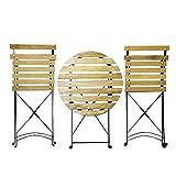 テーブルセット スチール 丸テーブル 椅子 木目