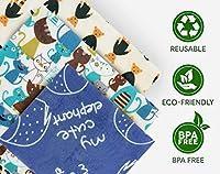 Beeswax Wrap 詰め合わせ 3個パック オーガニック プレミアム エコフレンドリー 再利用可能 食品ラップ 生分解性 持続可能なプラスチック フリー 洗濯可能 | Sサイズ 1個 Mサイズ 1個 Lサイズ 1個