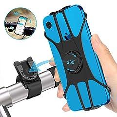 JPARR 自転車用スマホホルダー 360度回転 Android/iPhone多機種対応 落下防止 取り付け簡単 ナビしながらロードバイクを楽しむ 防水機能 バイク オートバイ スマホ ホルダー