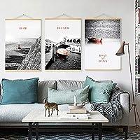 キャンバス壁アートワークぶら下げ絵画風景灯台ポスター印刷風景家の装飾スクロール子供部屋ユニークなギフト50 * 70センチ