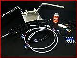 バリオス2型 セミしぼりアップハンドル セット 11cm アップハン BK/メッシュブレーキ アップハン バーテックス