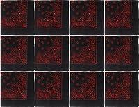 """ジャンボTrainmen 100%コットンペイズリーバンダナバイカーHeadwraps 27"""" x 27"""" One Size"""