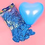 ACHICOO バルーン 風船 100個セット ロマンチック ラブハートラテックス ウェディング 飾り物 バレンタインデー ハッピーバースデー パーティー パーティーグッズ かわいい おしゃれ ライトブルー