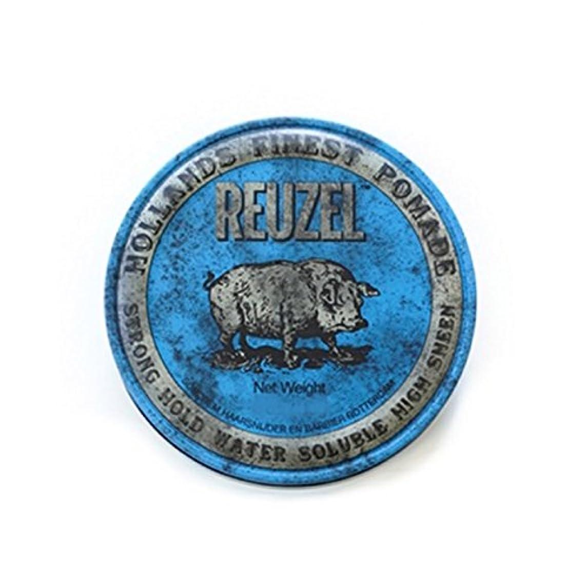 会う支援する上院議員REUZEL ルーゾーストロングホールドポマード  12oz.-340g 【青】340g <水溶性: ストロングホールド>