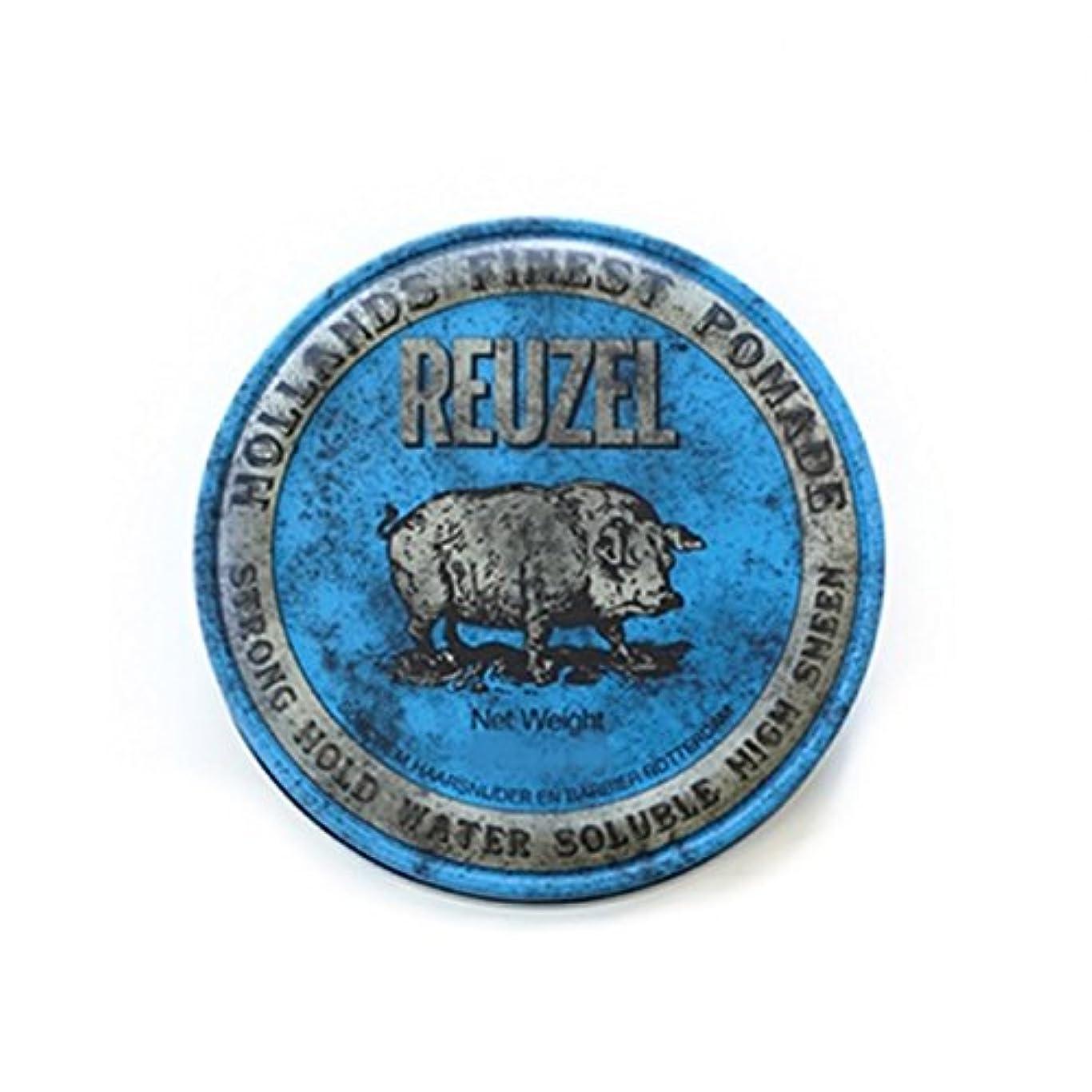 適合郊外カイウスREUZEL ルーゾーストロングホールドポマード  12oz.-340g 【青】340g <水溶性: ストロングホールド>