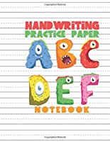 Handwriting Practice Paper Notebook: Dotted Lined Sheets for Pre K-3 Elementary Students 125 Pages Large Book