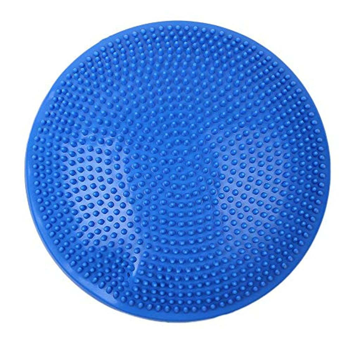 子感心する違反ヨガボール、バランスヨガマッサージプレートクッション安定性ディスクバランス揺れパッド足首膝ボードマッサージボールマット,Blue