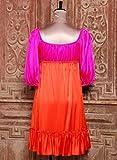 ピンクオレンジギャザードレスワンピース ベッツィ ジョンソン画像②