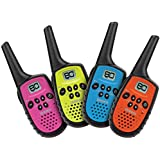 Uniden - UH35-4 - 80 Channel Mini Compact UHF Handheld Radios - Quad Colour Pack