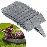 北欧風 花壇フェンス ガーデンエッジ ラティス 根止め 芝生DIY 23x25x2cm グレー 10点