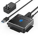 FIDECO SATA/IDE 変換アダプタ オフラインクローン HDDコンバーター USB3.0ハードドライブ 2.5/3.5/5.25インチ SATAI/II/III HDD/SSD対応 日本語取扱書付き