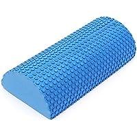 30Cm Gym EVA Yoga Pilates Fitness Half Round Foam Roller W/Floating Point