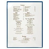 """StoreSMART ®–Luxuryメニューカバー–2つポケット–プラスチック–100枚パック–rbmc2–100 8.5"""" x 11"""" (letter) ブルー"""