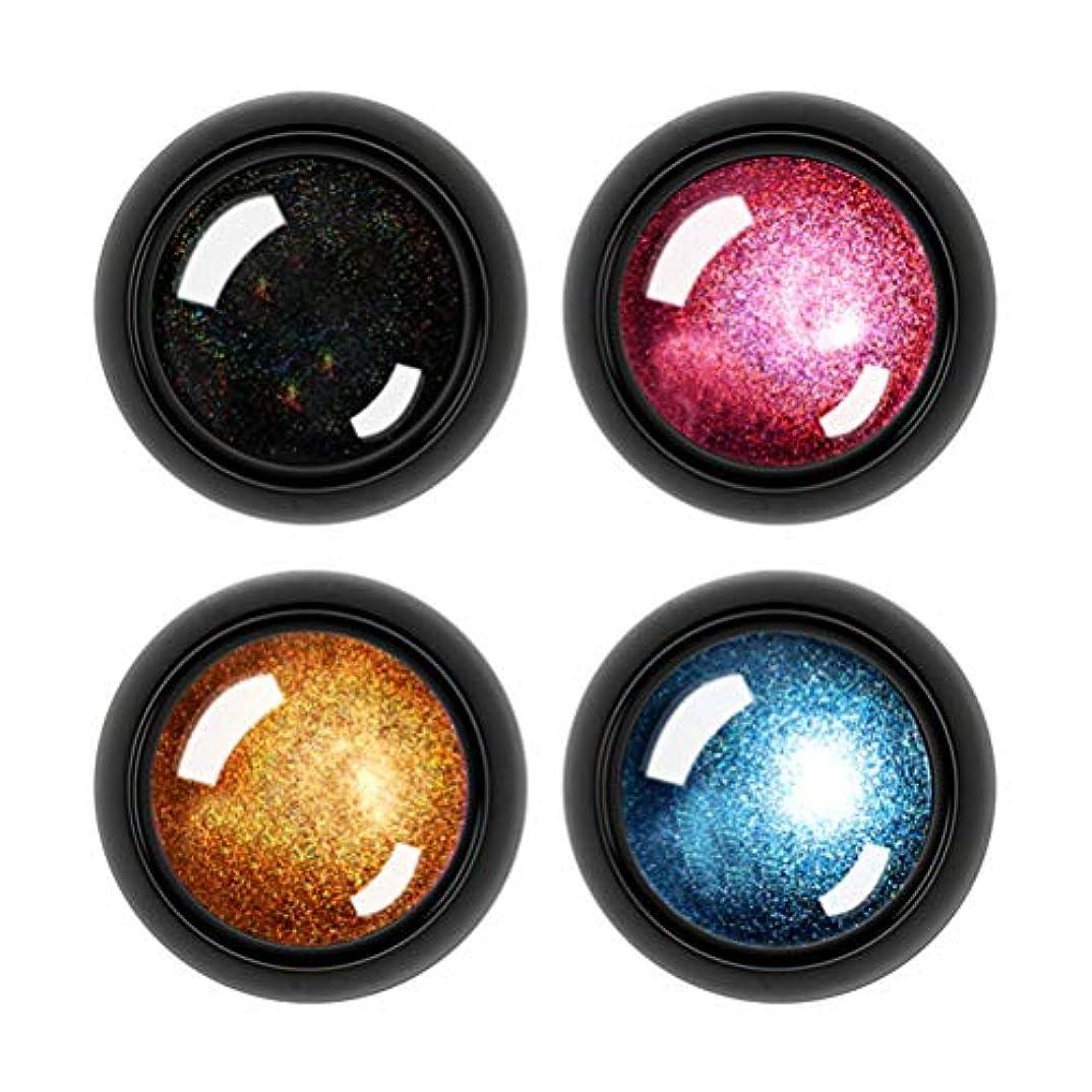 絡まる血色の良い乳剤Frcolor ネイルパウダー ネイルアート ミラーパウダー ネイルオーロラ ユニコーンパウダー 輝く 鏡面 金属調 4色セット