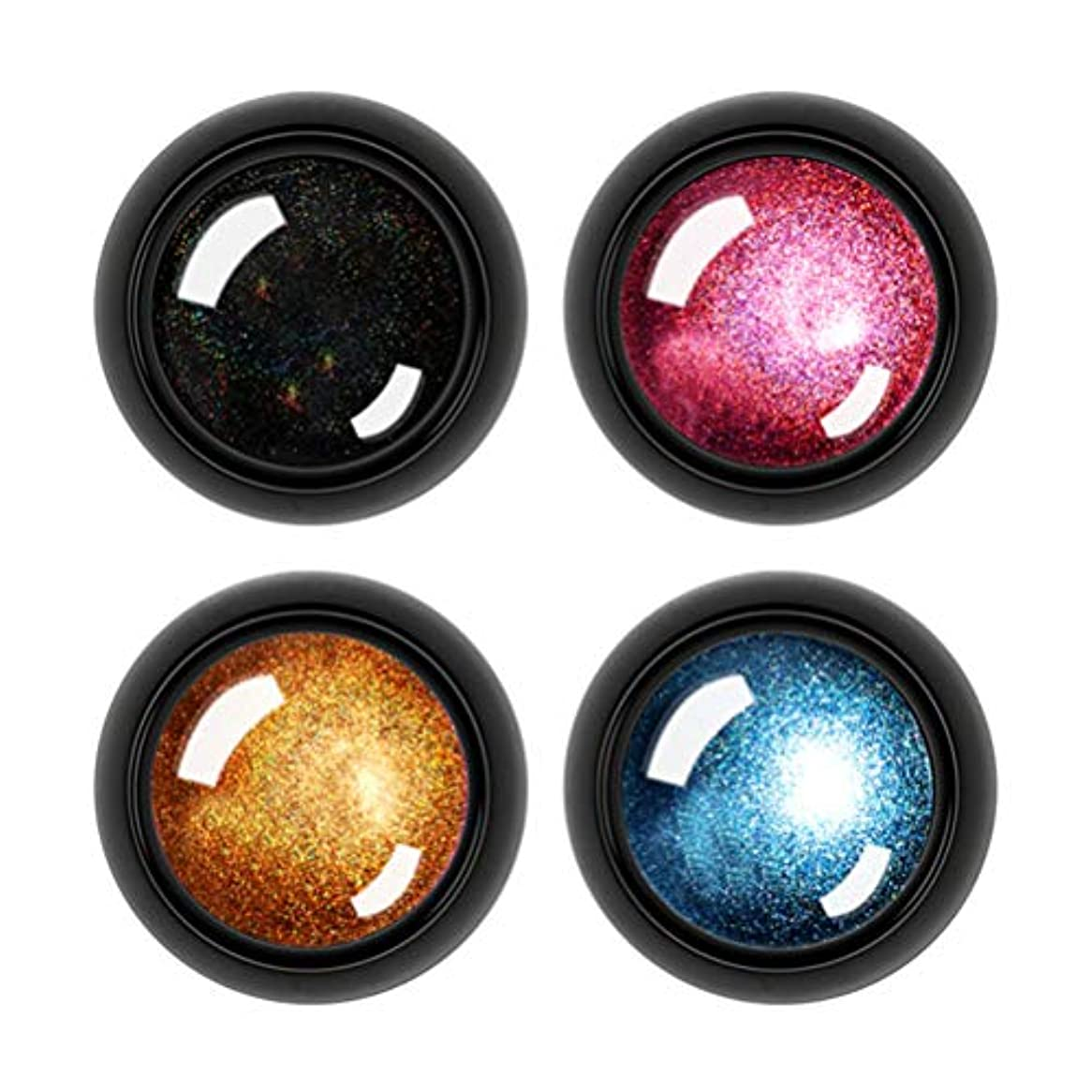 蒸留する活気づく励起Frcolor ネイルパウダー ネイルアート ミラーパウダー ネイルオーロラ ユニコーンパウダー 輝く 鏡面 金属調 4色セット