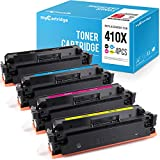 myCartridge Compatible toner Cartridge Replacement for HP 410X CF410X Fit for HP Color Laserjet Pro MFP M477 M477fdw M477fnw M477fdn M452 M452dw M452nw M452dn M377dw Printer(Black Cyan Yellow Magenta)