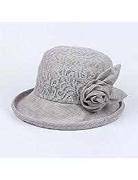 MUMA ハット キャップ夏ママ中年女性バケツ帽子老人おばあちゃんシンバイザーハット 帽子 ( 色 : グレー )