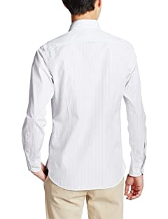Albiate Stripe Buttondown Shirt 3211-149-1642: Light Grey