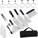 BBQ Griddle Accessories Kit for Blackstone and Camp Chef-16PCS Professional BBQ Tool Kit-Stainless Steel Flat Top Grill Acces