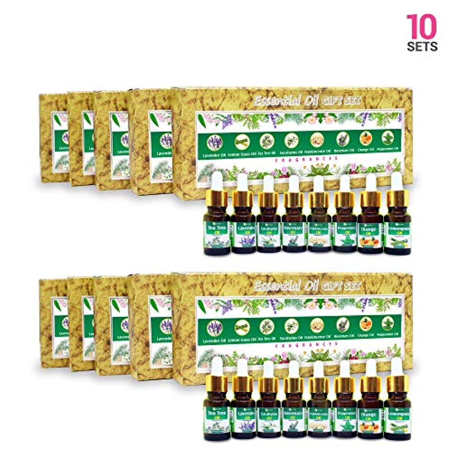 クスクスカストディアン神社Aromatherapy Fragrance Oils (Set of 10)- 100% Natural Therapeutic Essential Oils, 10ml each (Tea Tree, Lavender...