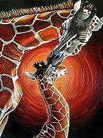 ダイヤモンド刺繍5D動物ダイヤモンド塗装フルライオンタイガーキリンラインストーン画像ダイヤモンドモザイク