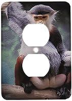 3drose LLC lsp _ 3880_ 6Douc Langur Monkey 2プラグコンセントカバー
