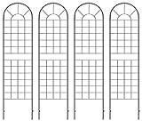 クラシックハイフェンス ハイタイプ(全高220cm) ブラック アイアン 4枚セット YBIF-220-2PX2