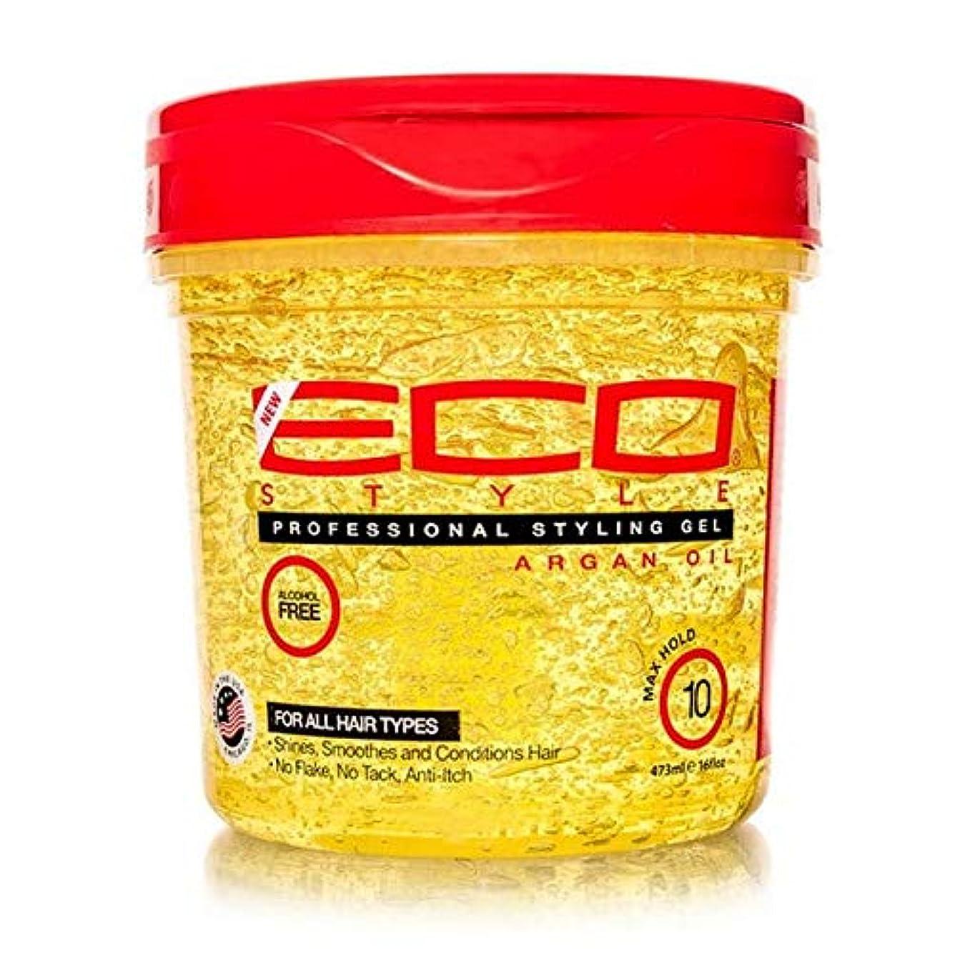 クリケットマラドロイトソビエト[ECO STYLER ] エコスタイラモロッコアルガン油スタイリングゲル473ミリリットル - ECO Styler Moroccan Argan Oil Styling Gel 473ml [並行輸入品]