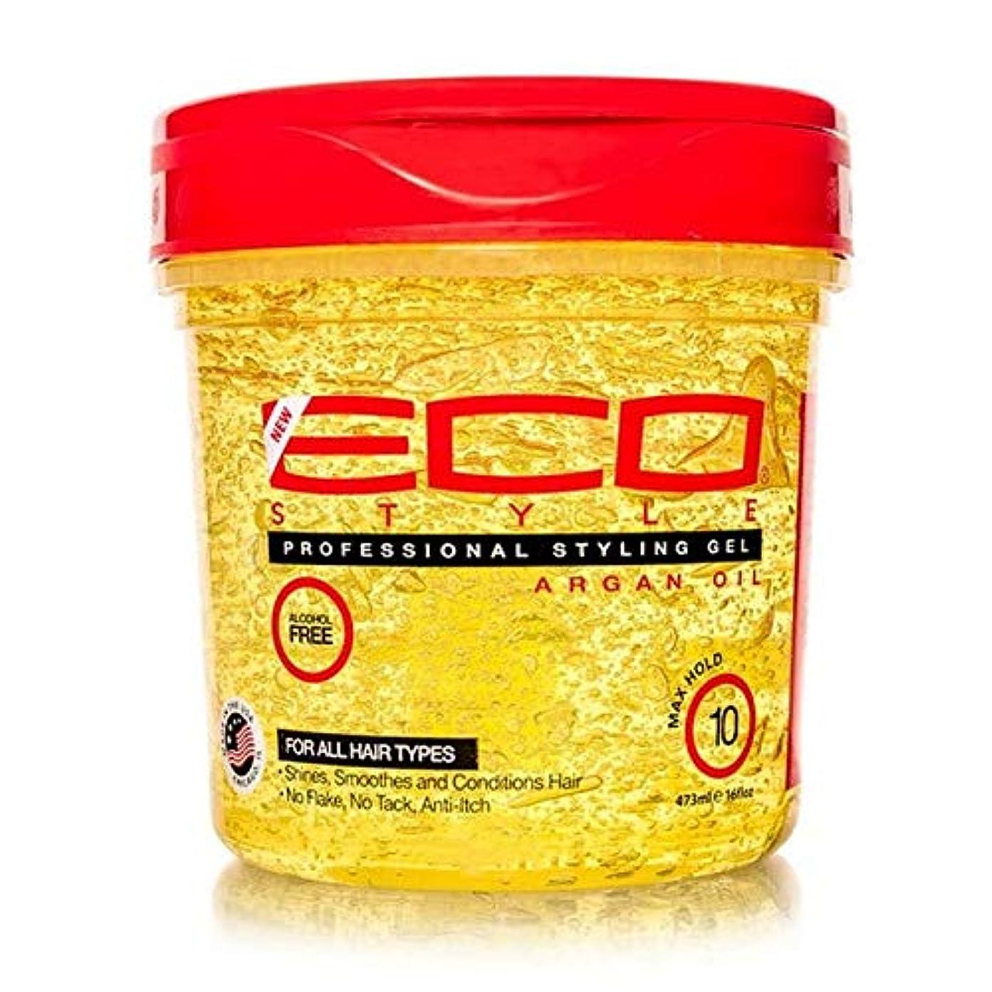 ポルトガル語ポップ幅[ECO STYLER ] エコスタイラモロッコアルガン油スタイリングゲル473ミリリットル - ECO Styler Moroccan Argan Oil Styling Gel 473ml [並行輸入品]