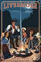 Livermore、コロラド – カウボーイCampfire Story Telling 24 x 36 Giclee Print LANT-49315-24x36