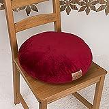 Shinnwa(シンワ) ふわふわ ラウンドクッション 直径40cm 円形クッション ボア生地 抱き枕 レッド