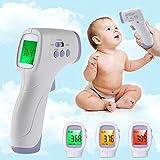 Lemonda 非接触式 体温計 赤外線 放射 耳・おでこで測定 赤ちゃん・ベビー体温計 デジタル体温計 1秒で測定 人体・ 物体の表面温度測定 測定距離:3-5cm 電池に付き 発熱アラーム機能に付き