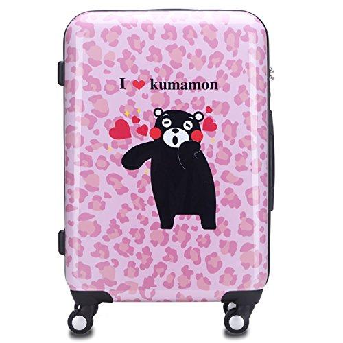 ラッキーパンダ luckypanda【1年修理保証付き】スーツケース くまモンバージョン TSAロック搭載 S M L 3サイズ5色 スーツケース 機内持込 小型 中型 大型 キャリーバッグ かわいい 機内持ち込み 軽量 安い キャリーケース 人気 トランクケース キャリーバック 旅行カバン 軽量 旅行バック Luggage Suitcase sサイズ mサイズ lサイズ (M, KM-005)