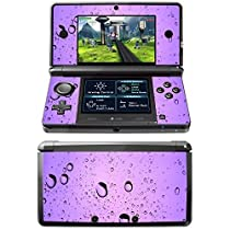 Water Drops, Skin Sticker Vinyl Cover with Leather Effect Laminate and Colorful Design for Nintendo 3DS by Virano [並行輸入品]