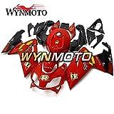 WYNMOTO 外装パーツセット適応フィットアプリリア RS125 RS4 125 2006 - 2011 ABS 樹脂射出赤と黒フェアカバー