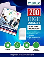 Sheet Protectors – Clear Plastic Sheets Protector 8.5 x 11 – Letter Size Sheet Protectors 11 Holes for Any Binder 200 Pack [並行輸入品]