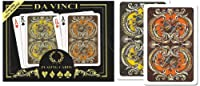 Da Vinci Harmony, Italian 100% Plastic Playing Cards, 2-Deck Bridge Size Regular Index Set, with Hard Shell Case & 2 Cut